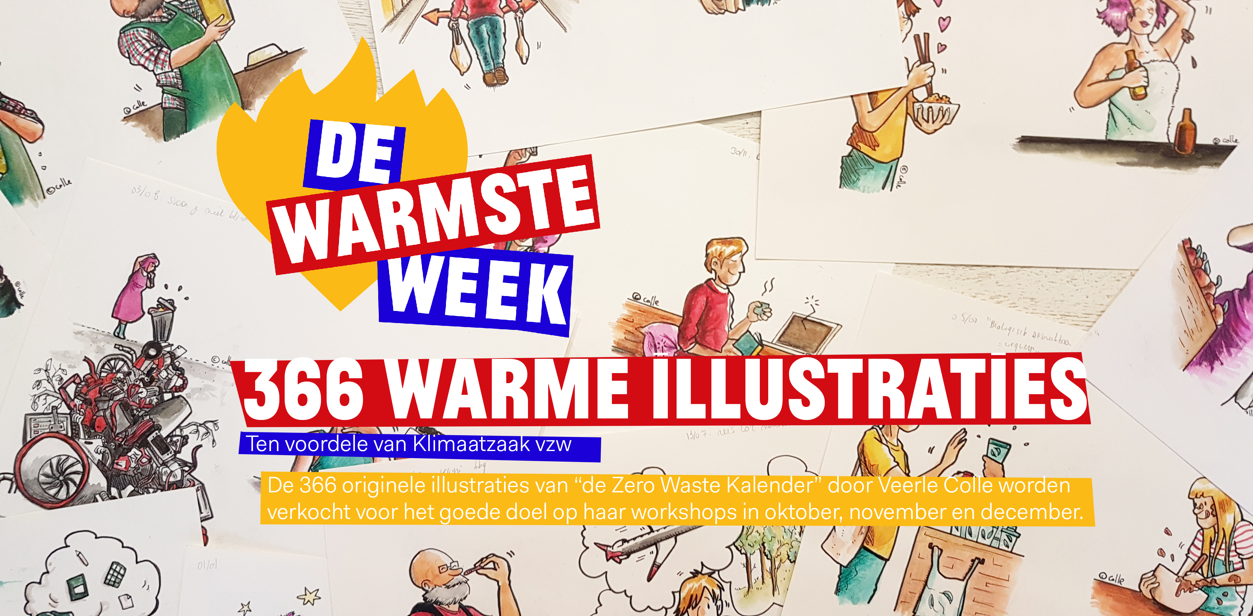 366 warme illustraties logo